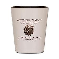 Alexander the Great Shot Glass