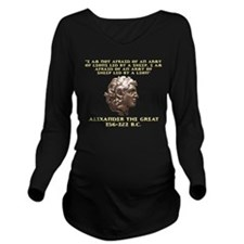 Alexander the Great Long Sleeve Maternity T-Shirt