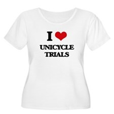 I Love Unicycle Trials Plus Size T-Shirt
