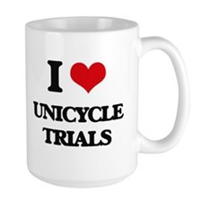 I Love Unicycle Trials Mugs