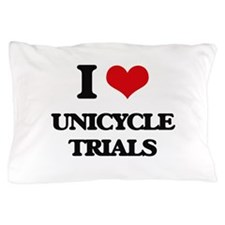 I Love Unicycle Trials Pillow Case