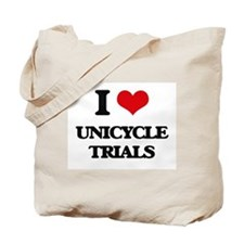 I Love Unicycle Trials Tote Bag