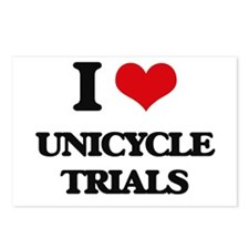 I Love Unicycle Trials Postcards (Package of 8)