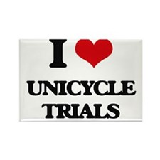 I Love Unicycle Trials Magnets