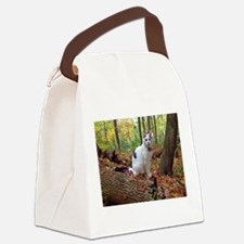 Forest Cat Canvas Lunch Bag