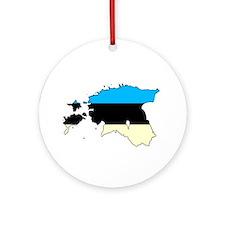 Estonia Flag/Map Ornament (Round)