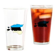 Estonia Flag/Map Drinking Glass