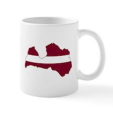 LatviaFlagMap Mugs