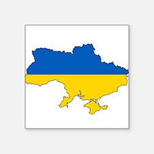 Ukraine Flag and Map Sticker