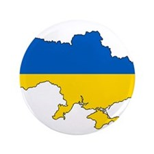 "Ukraine Flag and Map 3.5"" Button"