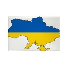 Ukraine Flag and Map Magnets