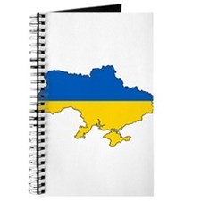 Ukraine Flag and Map Journal