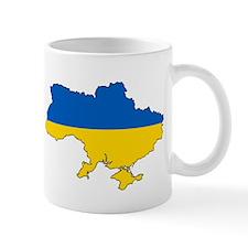 Ukraine Flag and Map Mugs