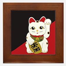 Cute Lucky cat Framed Tile