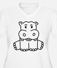 Happy Hippo Plus Size T-Shirt