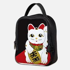 Cool Black white tux cat Neoprene Lunch Bag