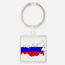 Russian Flag Map Keychains