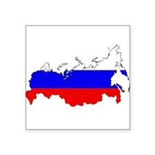 Russian Flag Map Sticker