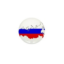 Russian Flag Map Mini Button (10 pack)