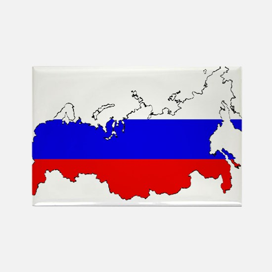 Russian Flag Map Magnets