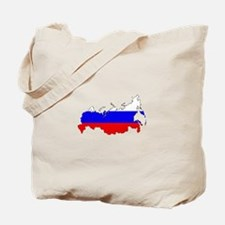 Russian Flag Map Tote Bag