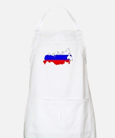 Russian Flag Map Apron