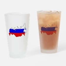 Russian Flag Map Drinking Glass