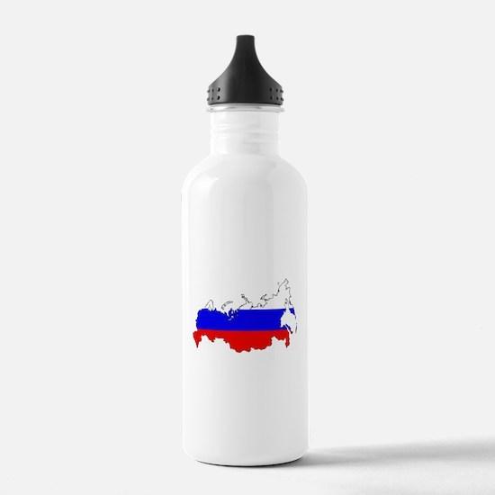 Russian Flag Map Water Bottle