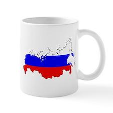 Russian Flag Map Mugs