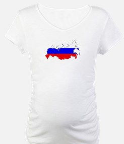 Russian Flag Map Shirt