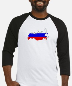 Russian Flag Map Baseball Jersey