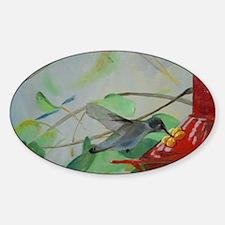 Hummingbird Day Five Oval Decal