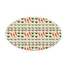 Sushi Platter Oval Car Magnet