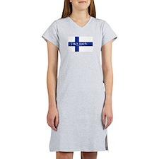Finnish Flag Women's Nightshirt