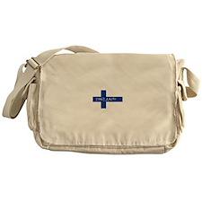 Finnish Flag Messenger Bag