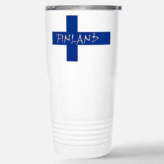 Finnish Flag Travel Mug