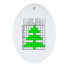 Pixel Puzzle Novelty Ornament (solved)
