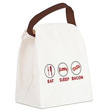 Eat Sleep Bacon Canvas Lunch Bag