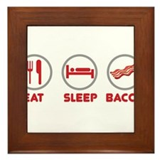 Eat Sleep Bacon Framed Tile