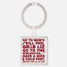 Shaun of the dead montage Keychains