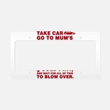Shaun of the dead montage License Plate Holder