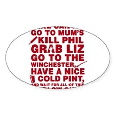 Shaun of the dead montage Decal
