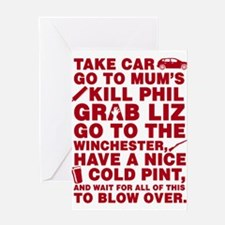 Shaun of the dead montage Greeting Cards