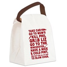Shaun of the dead montage Canvas Lunch Bag