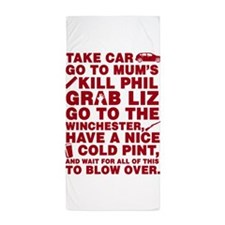 Shaun of the dead montage Beach Towel
