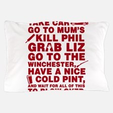 Shaun of the dead montage Pillow Case