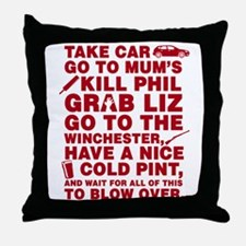 Shaun of the dead montage Throw Pillow