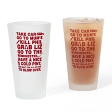 Shaun of the dead montage Drinking Glass