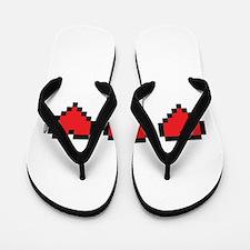 3 Hearts Flip Flops