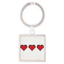 3 Hearts Keychains